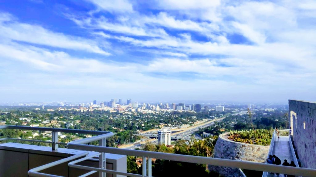 Breathtaking views from The Getty Center, Los Angeles. Photo by Dennis Bindarau / LIVEfeed