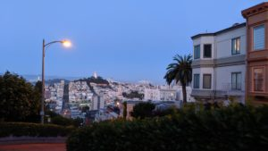 """Being the """"most crookedest"""" street in the world, Lombard Street opens up some of the most beautiful views of the city. Photo by Vera Sauchanka / LIVEfeed"""