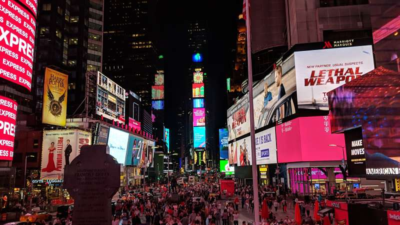 The surreal glow of Times Square. Photo by Vera Sauchanka / LIVEfeed