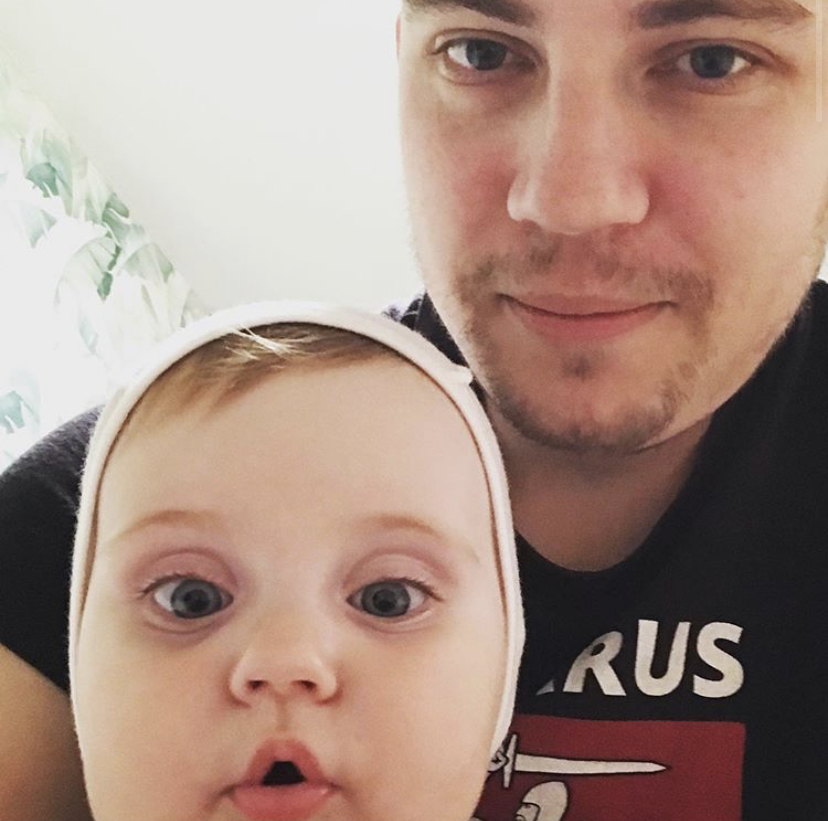 Ihar Losik with his daughter / Photo courtesy of Darya Losik