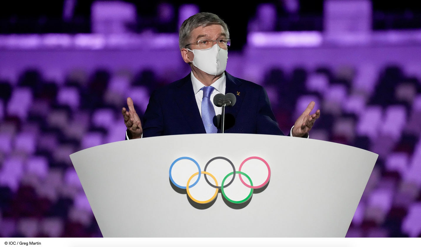 IOC President speaks at Tokyo 2020 Opening Ceremony   LiveFEED